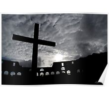 Roman Colosseum Cross Poster