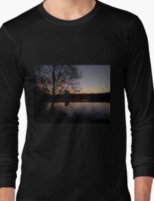 Sunrise At Domnarvet Bridge Long Sleeve T-Shirt