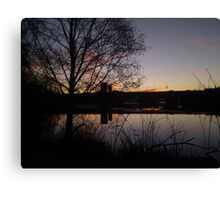 Sunrise At Domnarvet Bridge Canvas Print