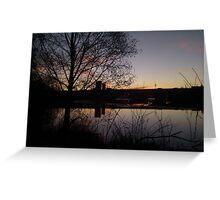 Sunrise At Domnarvet Bridge Greeting Card