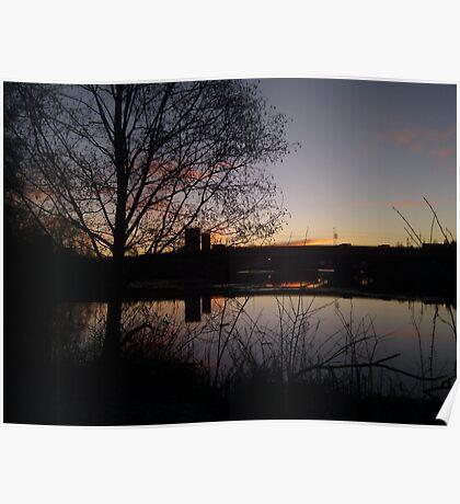 Sunrise At Domnarvet Bridge Poster