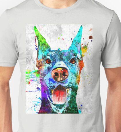 Doberman Pinscher Grunge Unisex T-Shirt