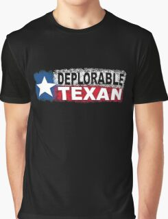 DEPLORABLE TEXAN with STAR in RED, WHITE, BLUE, BLACK Graphic T-Shirt