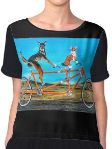Bicycle Dogs Chiffon Top
