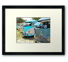 Surfs up and the VW-Bus Framed Print