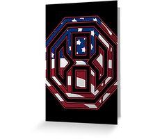 Octagon MMA USA Logo Greeting Card