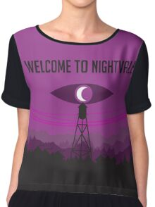 Welcome to Nightvale and Firewatch Crossover Chiffon Top