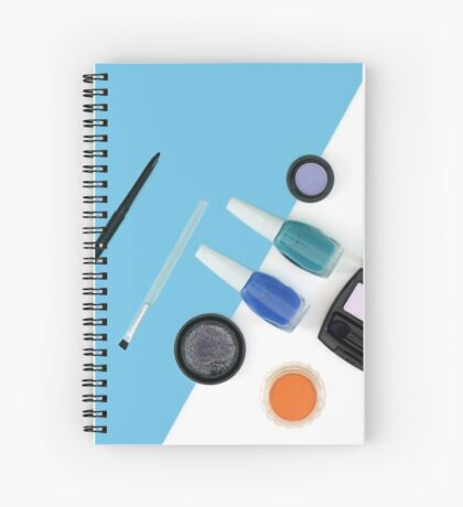 Beauty and Cosmetics - Blue Composition  Spiral Notebook