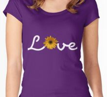 Love with flowers - White Women's Fitted Scoop T-Shirt
