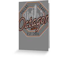 Octagon MMA Skyline Logo Greeting Card