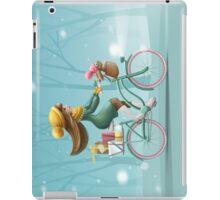 Girl riding a bike iPad Case/Skin
