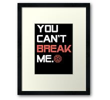 Octagon MMA You Can't Break Me Framed Print