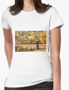 The Magic Of Golden Autumn Womens Fitted T-Shirt