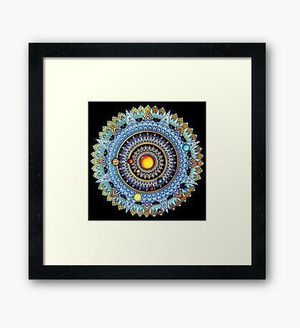Solar System Mandala Framed Print