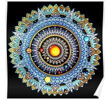 Solar System Mandala Poster