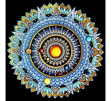 Solar System Mandala Photographic Print