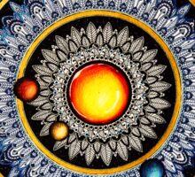 Solar System Mandala Sticker