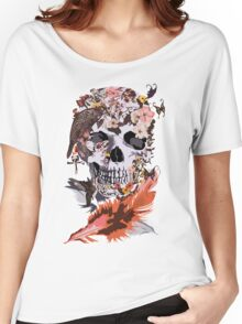 Birds, butterfly and Sugar Skull Women's Relaxed Fit T-Shirt