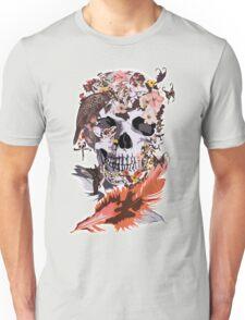 Birds, butterfly and Sugar Skull Unisex T-Shirt