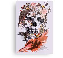 Birds, butterfly and Sugar Skull Metal Print