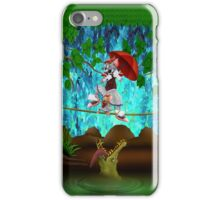 Cute halloween The Cat, Mouse and crocodile Deadly circus iPhone Case/Skin