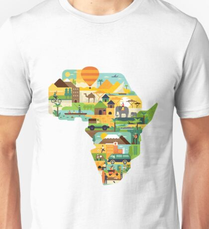 Africa Is Amazing - A Detailed Illustrated African Culture Design Unisex T-Shirt