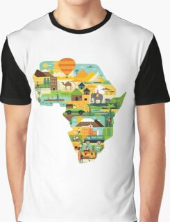 Africa Is Amazing - A Detailed Illustrated African Culture Design Graphic T-Shirt