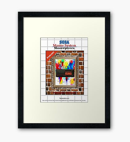 Master System Masterpieces podcast Framed Print
