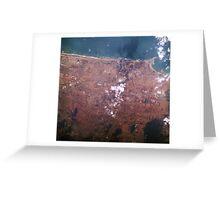 Casablanca Mohammedia Morocco Satellite Image Greeting Card