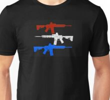 Red White and Blue Pew  Unisex T-Shirt