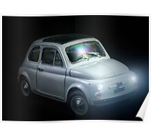 FIAT 500 in black background Poster