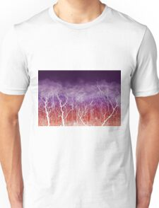 Sunset White Trees Unisex T-Shirt