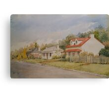 Perth Cottages by Muriel Sluce Canvas Print