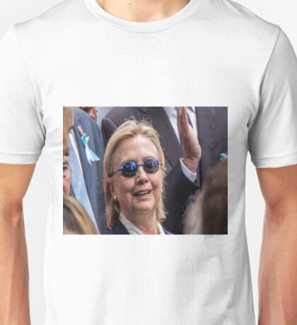 hilary v morhpeuos who would win Unisex T-Shirt
