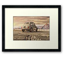FIAT 500 sand Framed Print