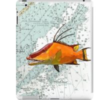 Hogfish on a Chart iPad Case/Skin