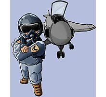 Fighter Pilot Photographic Print