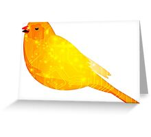Evil Canary Greeting Card