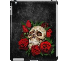 Red Rose Sugar skull iPad Case/Skin