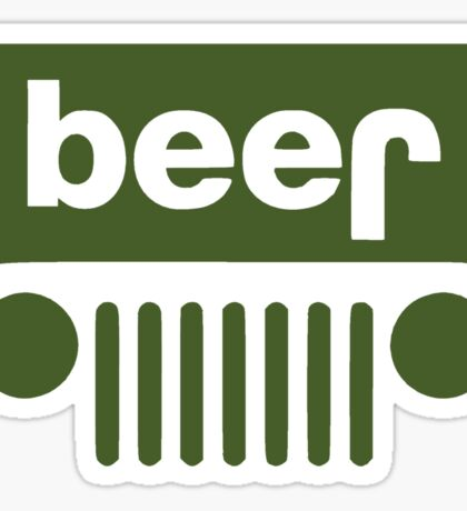 Drink beer in a truck or jeep. Sticker