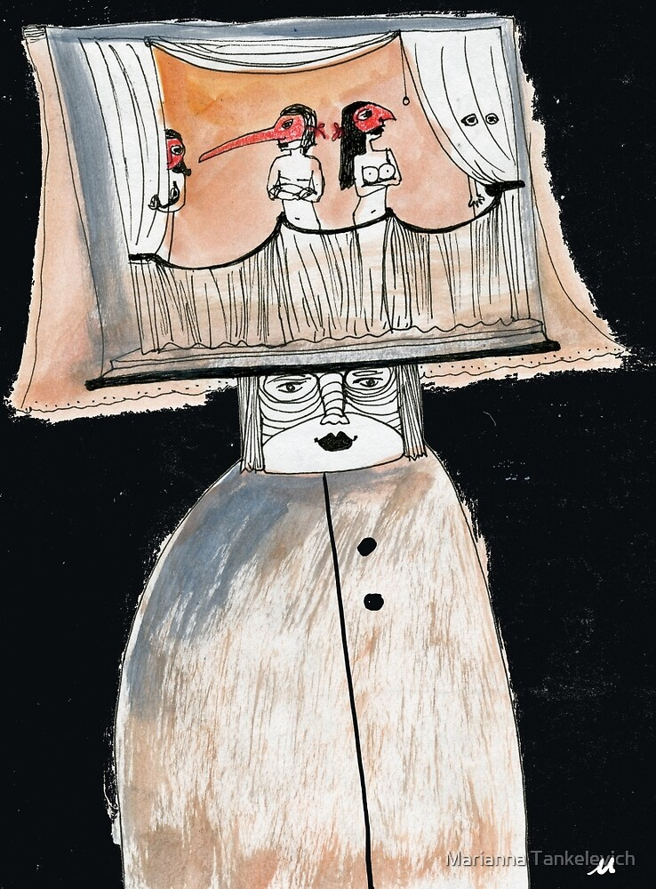 Sketchbook page ...Theater by Marianna Tankelevich