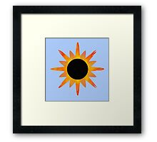 Sunburst sunflower Framed Print