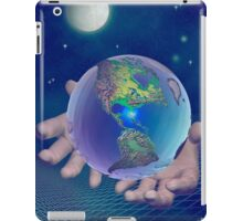 Hands holding the world iPad Case/Skin