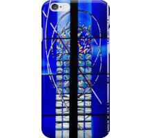 Abstract, Modern Stained Glass Window in an Ancient Church  iPhone Case/Skin