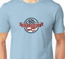 Deplorable Label with American Flag Unisex T-Shirt