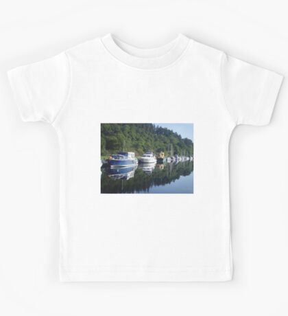 Boats on the Caledonian Canal Kids Tee