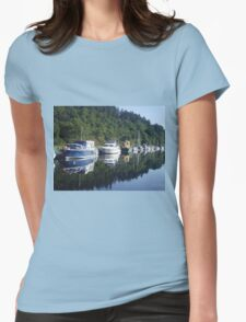 Boats on the Caledonian Canal Womens Fitted T-Shirt