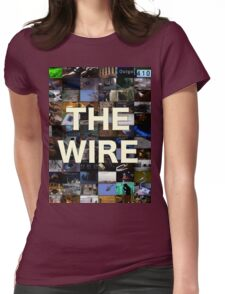 The Wire Television Poster Womens Fitted T-Shirt