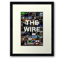 The Wire Television Poster Framed Print