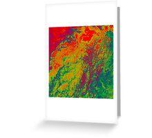 Niger River Inland Delta Mali False Color Satellite Image Greeting Card